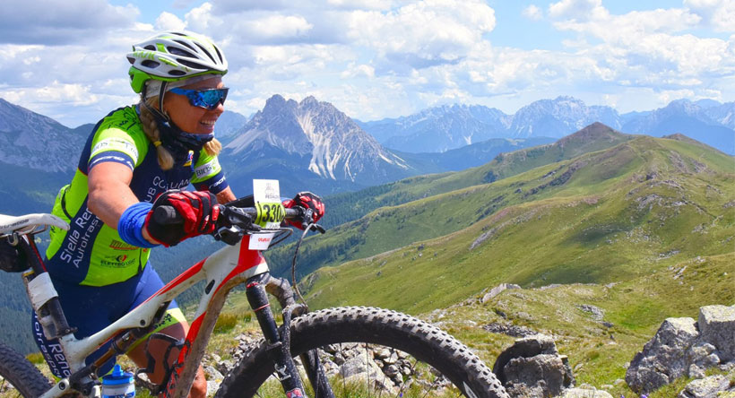 Bike Marathon in Zweierteams in Val Comelico